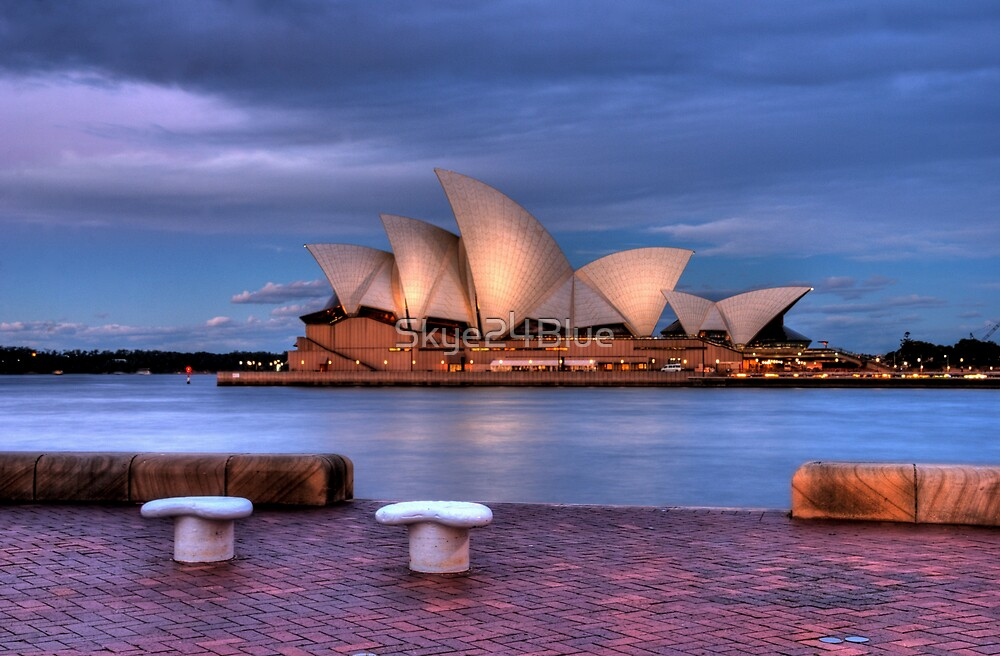 The Opera House at Dusk by Skye24Blue