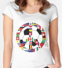 Football World Cup 2018 Women's Fitted Scoop T-Shirt