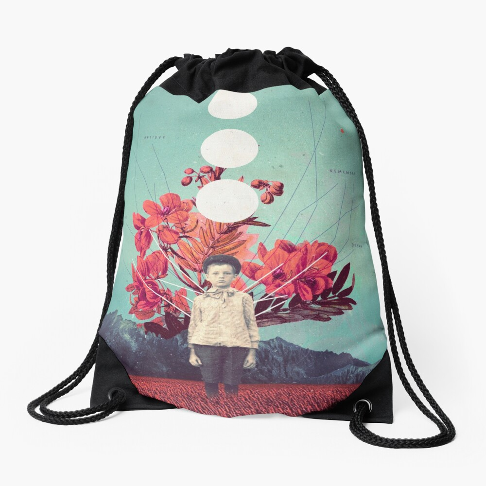 Standing at the Threshold of Time Drawstring Bag