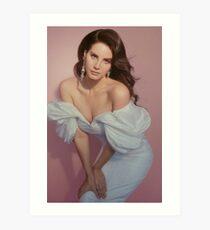lana del rey - pink background Art Print