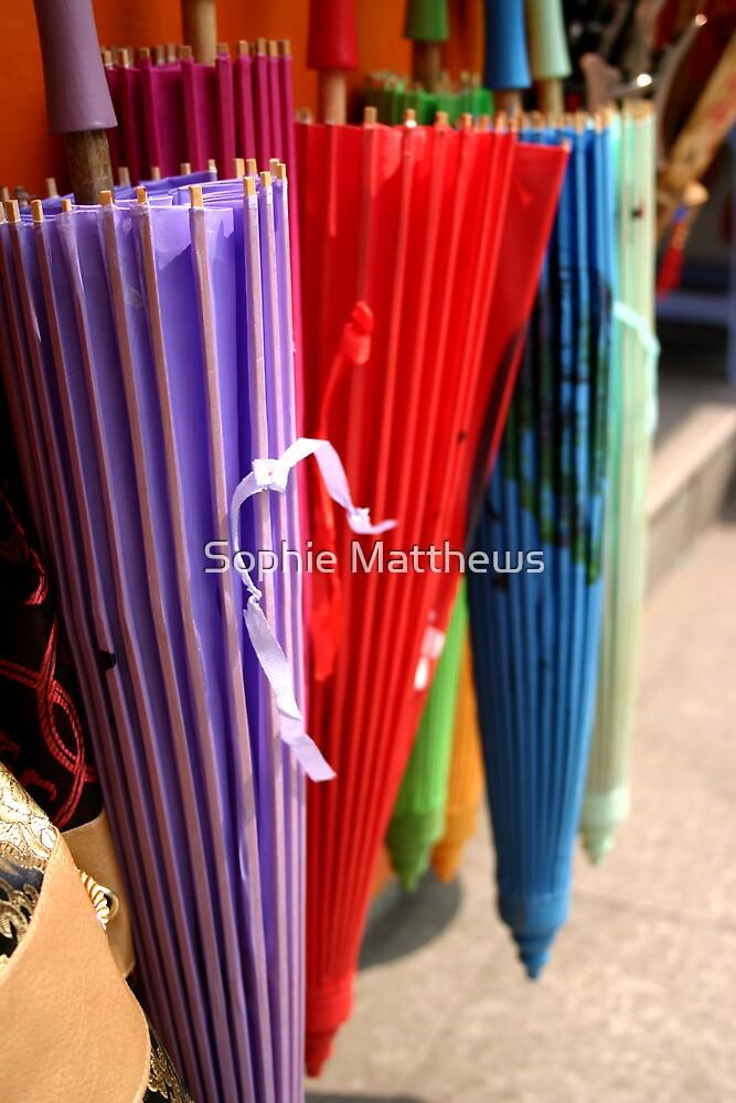 Chinese umbrellas by Sophie Matthews