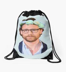 Tom Hiddleston Flower Crown Drawstring Bag