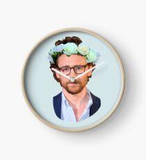 Tom Hiddleston Flower Crown Clock