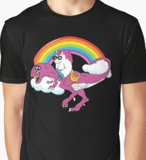 4ba6aef9796a Tyrannosaurus Rex Unicorn and Dinosaurs Rainbow T-Shirt Graphic T-Shirt