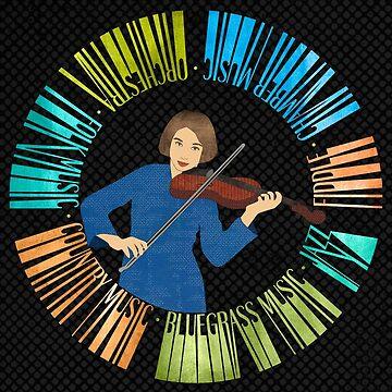 Violin Wreath by janetcarlson