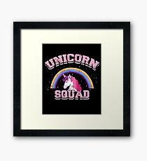 Unicorn Rainbow Gift Unicorn Squad Unicorns School Present Framed Print