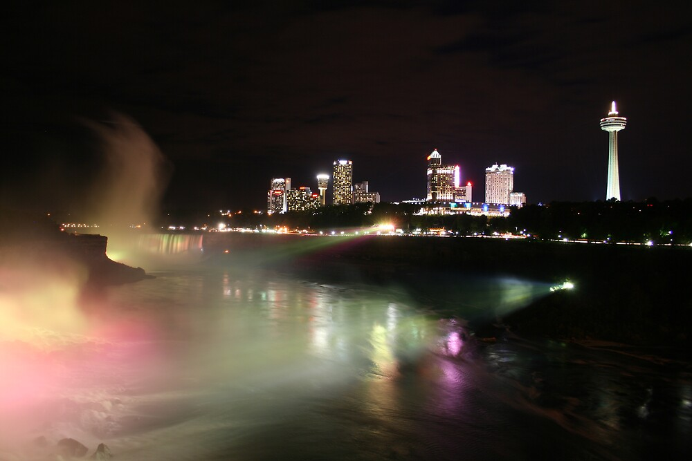 Niagara by Night by kauphyluvr