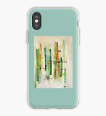 Blue Hawai - mid-century modern abstract art tiki retro iPhone Case