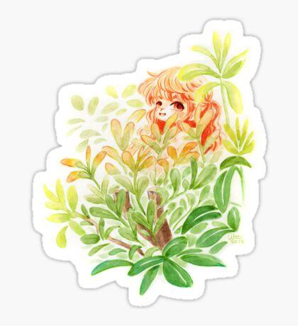 Aquarelle elfe forêt  Sticker