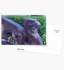 Gargoyle and Cobwebs close up  Postcards