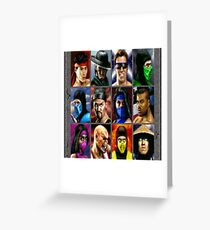 Mortal Kombat II SNES Character Select Greeting Card
