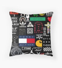 collage bard Throw Pillow