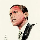 President Barak Obama by morgansartworld