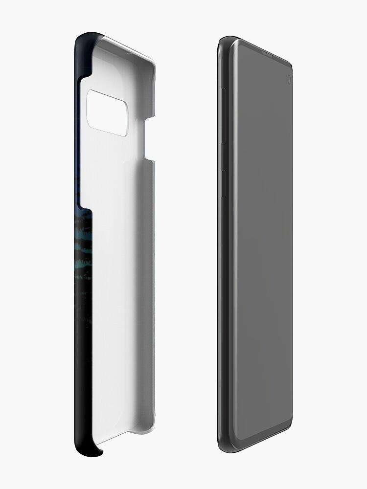 Alternative Ansicht von Elch mit Nordlichtern Hülle & Klebefolie für Samsung Galaxy
