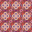 Moroccan Tile Pattern in Pink by latheandquill