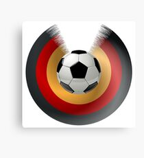 Football Black Red Gold Canvas Print