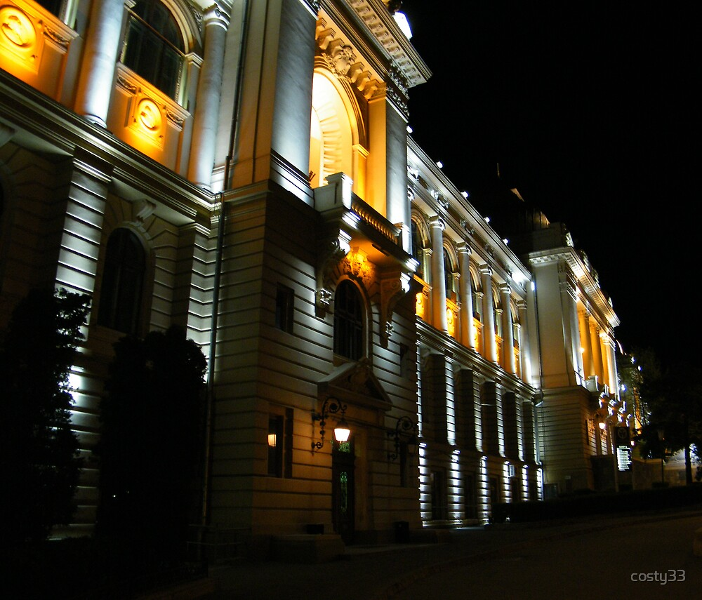 University in the night by costy33