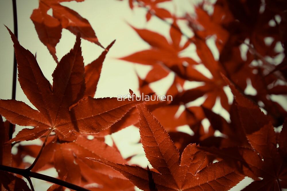 Red Japanese Maple by artfulauren