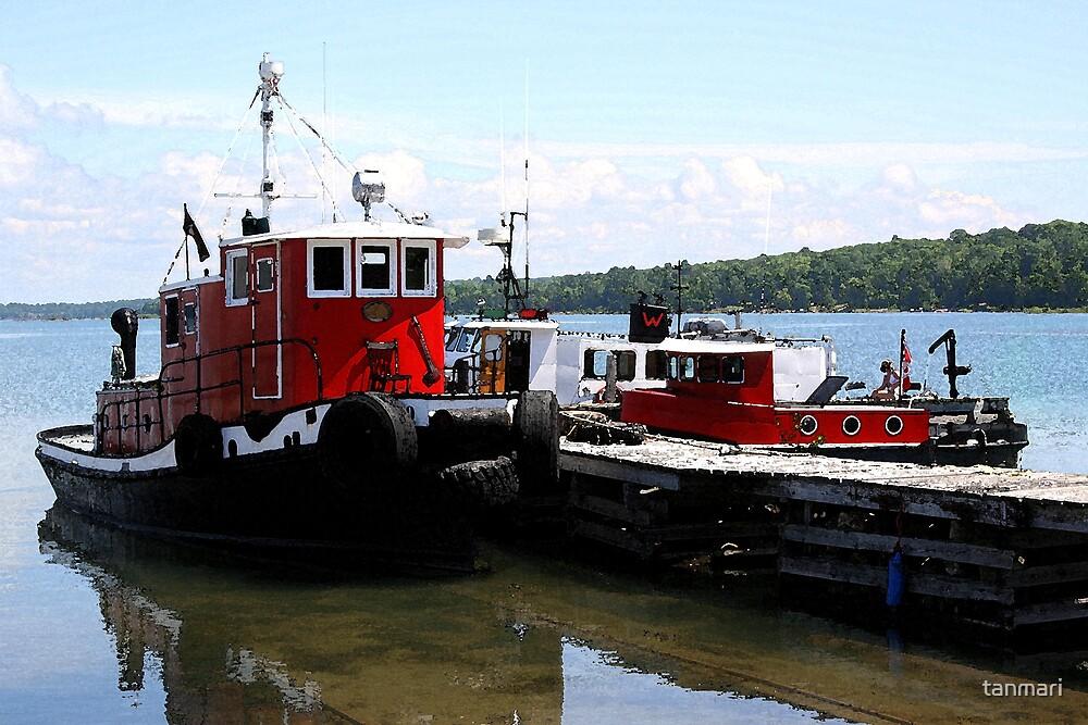 Happy tugboats by tanmari
