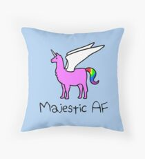 Majestic AF Pink Llamacorn Throw Pillow