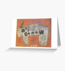 Duncan's Rhino Greeting Card