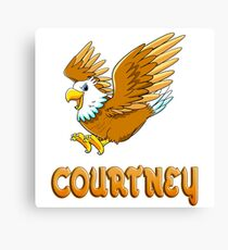 Courtney Eagle Sticker Canvas Print