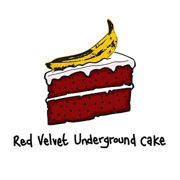 Red Velvet Underground Cake by DocHackenbush