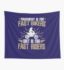 Dirt Bike Racing Off Road Biking Gifts Quote  Wall Tapestry