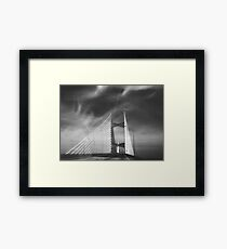 Dames Point Bridge in Black and White Framed Print