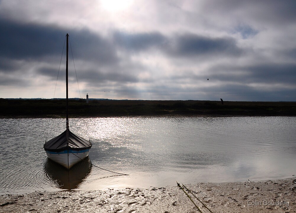 Low tide at Blakeney by Colin Bowdery