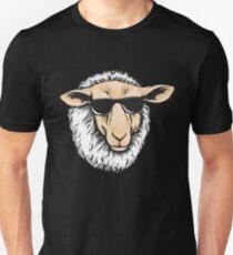Cool Sheep With Sunglasses - Herd Farm Farmer Unisex T-Shirt