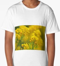 Golden Alyssum Close Up Long T-Shirt