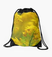 Golden Alyssum Close Up Drawstring Bag