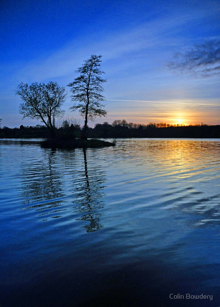 Sunset at Chipstead Lake by Colin Bowdery