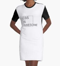 CSS Is Awesome Graphic T-Shirt Dress