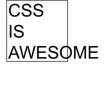 CSS Is Awesome by sandywoo