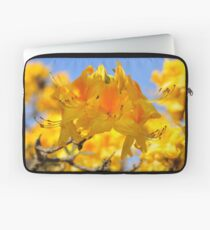 Yellow Rhododendron Flowers. Spring Pruhonice Park Laptop Sleeve
