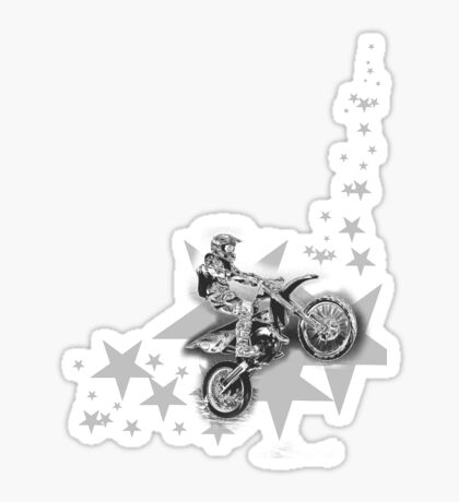 Dirt Bikin' Sticker