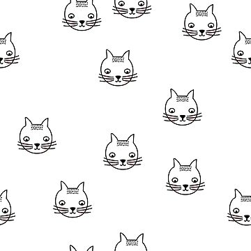 cat doodle pattern by areckewey