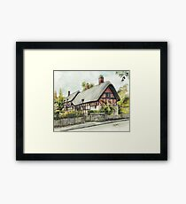 Anne Hathaway`s cottage  Framed Print