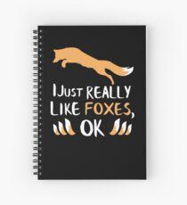 Ich mag Foxes OK Shirt Lustiges Fox-T-Shirt Spiralblock