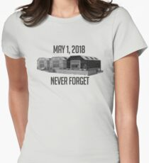 Never Forget Dusty Women's Fitted T-Shirt