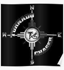 Tornado Chaser Word Emblem Poster