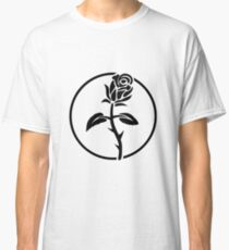Black Rose of Solidarity. Anarchists Rose. Classic T-Shirt