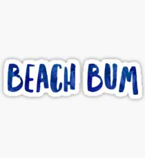 Beach Bum Art Meme Dank Funny Sticker