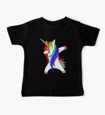 Camiseta para bebés Divertido Dabbing Unicorn Dance Unicorns Dab
