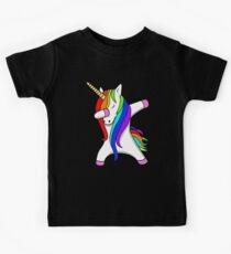 Camiseta para niños Divertido Dabbing Unicorn Dance Unicorns Dab