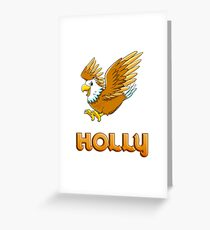 Holly Eagle Sticker Greeting Card