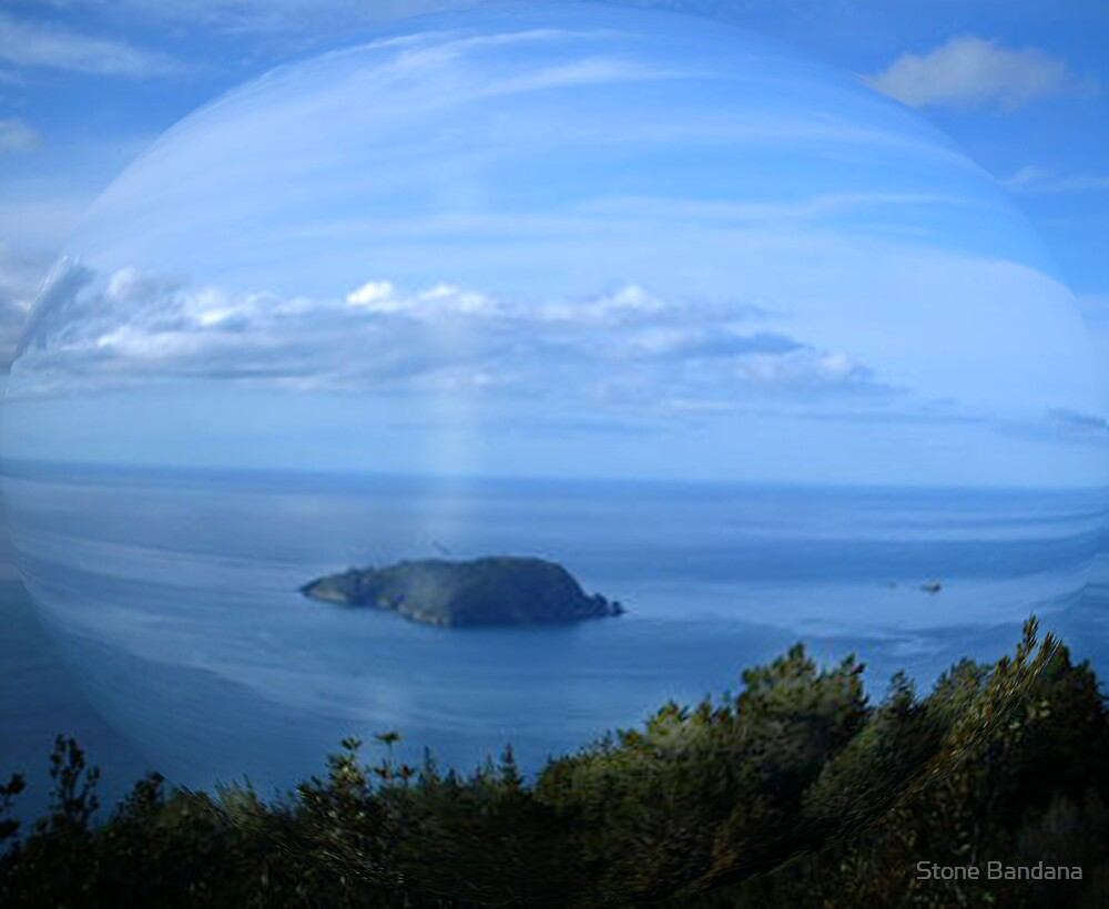 Coromandel New Zealand Shoe Island from Pauanui by Stone Bandana