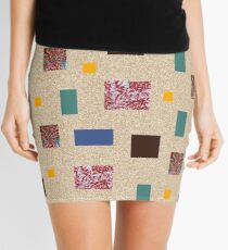 Coloured squares and rectangles Mini Skirt